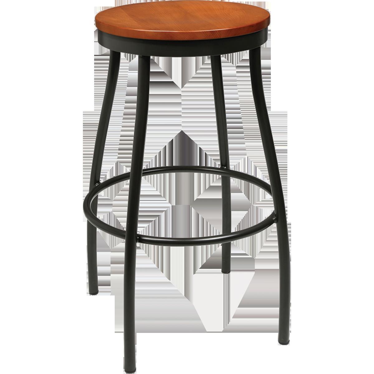 Top Metal Rustic Wood Backless Bar Stool | Millennium Seating | USA  WQ58